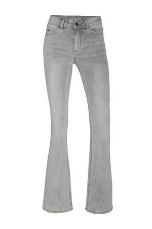 high waist flared jeans Sylvie Flare light grey