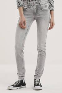 Il Dolce high waist slim fit jeans Ibiza light grey, Light Grey