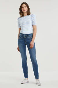 Il Dolce high waist slim fit jeans Ibiza medium blue., Medium Blue.