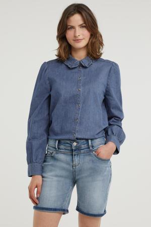 slim fit short Ashley medium blue