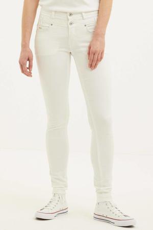 high waist slim fit jeans Ibiza white