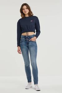 Il Dolce high waist slim fit jeans Ibiza medium blue, Medium blue
