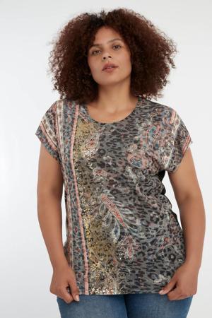 T-shirt met printopdruk multi