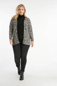 MS Mode vest met zebraprint grijs/zwart, Grijs/zwart