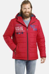 Jan Vanderstorm jas Plus Size Aiko met printopdruk rood, Rood