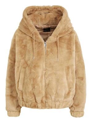 teddy winterjas camel