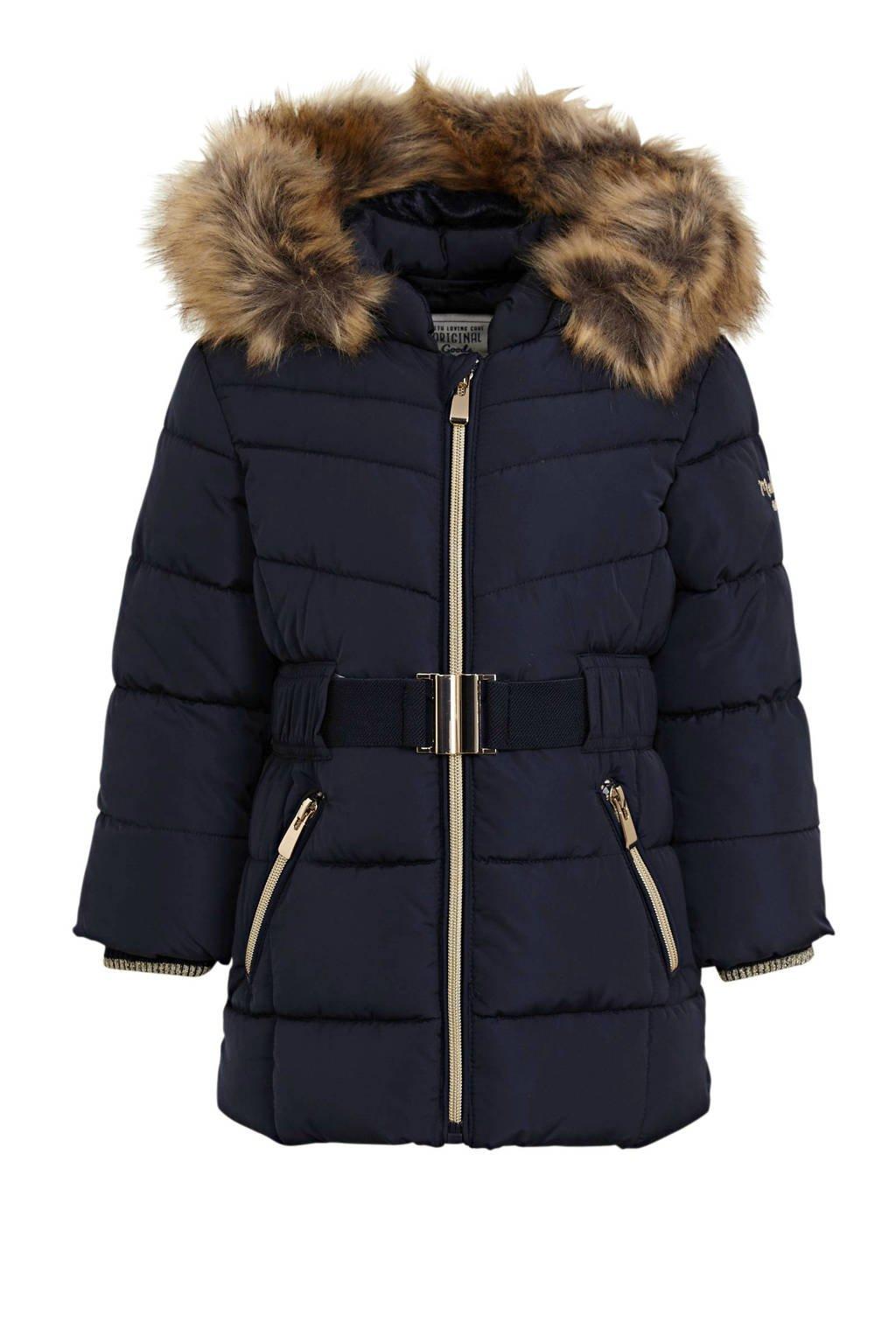 C&A Palomino gewatteerde winterjas donkerblauw, Donkerblauw