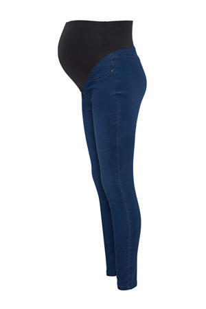 low waist skinny zwangerschapsjegging blauw