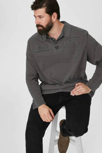 C&A XL regular fit polo antraciet, Antraciet