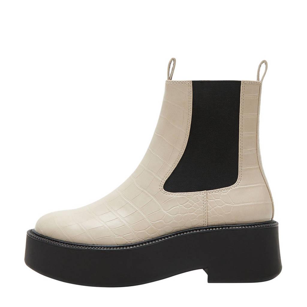 Violeta by Mango   chelsea boots gebroken wit, Gebroken wit