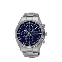 Seiko horloge SSC365P1 grijs, Grijs/blauw