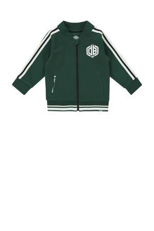 vest Onano mini met contrastbies groen/wit