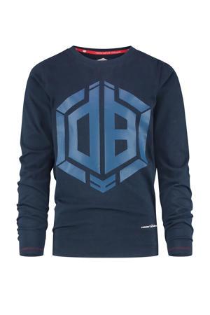 longsleeve Joster met logo donkerblauw/blauw