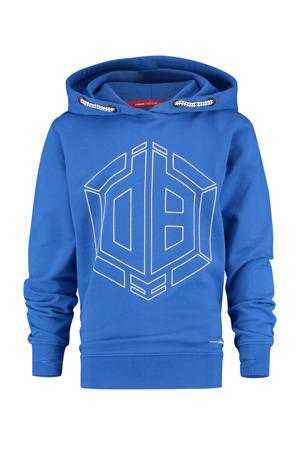 hoodie Nowden met logo blauw