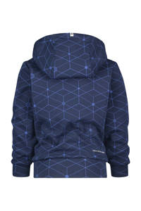 Vingino Daley Blind hoodie Nace met all over print donkerblauw, Donkerblauw