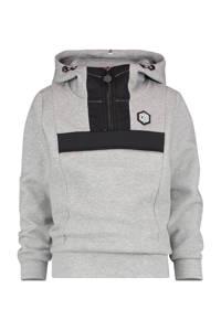 Vingino Daley Blind gemêleerde hoodie Nace grijs melange/zwart, Grijs melange/zwart