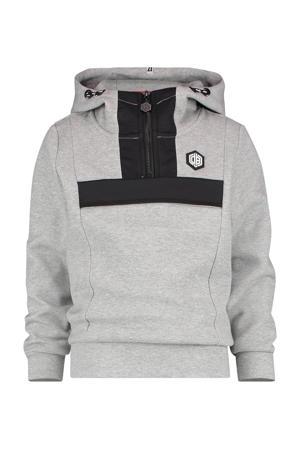 gemêleerde hoodie Nace grijs melange/zwart