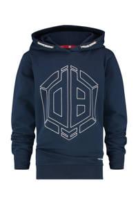 Vingino Daley Blind hoodie Nowden met logo donkerblauw, Donkerblauw