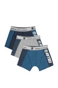 Vingino Daley Blind   boxershort Vective- set van 3 donkerblauw/grijs melange/blauw, Donkerblauw/grijs melange/blauw