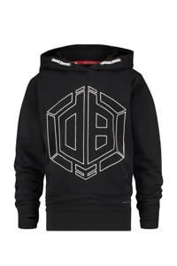 Vingino Daley Blind hoodie Nowden met logo zwart, Zwart