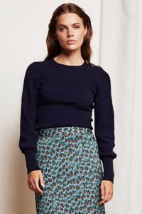 Fabienne Chapot fijngebreide trui Lillian marine, Donkerblauw