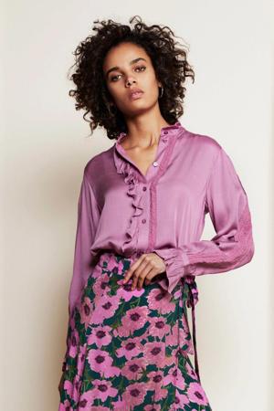 blouse Mimi met ruches roze