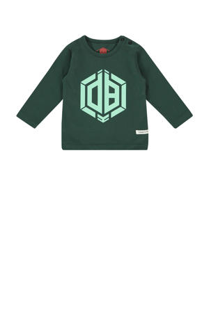 longsleeve Jazza mini met logo groen/mintgroen