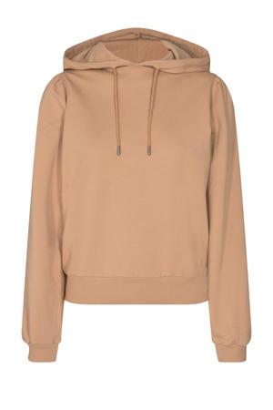 regular fit hoodie Jollu met plooien camel