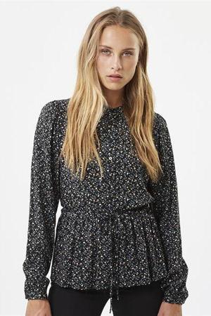 gebloemde blouse Trinne zwart