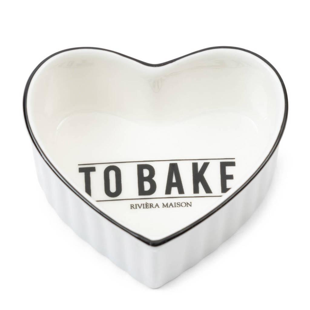 Riviera Maison kom Love To Bake (set van 2), Wit