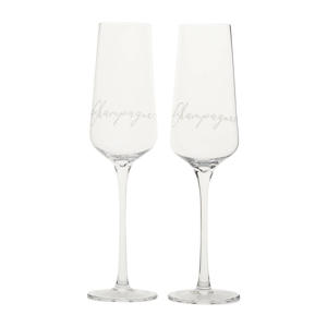 champagne glas (set van 2)