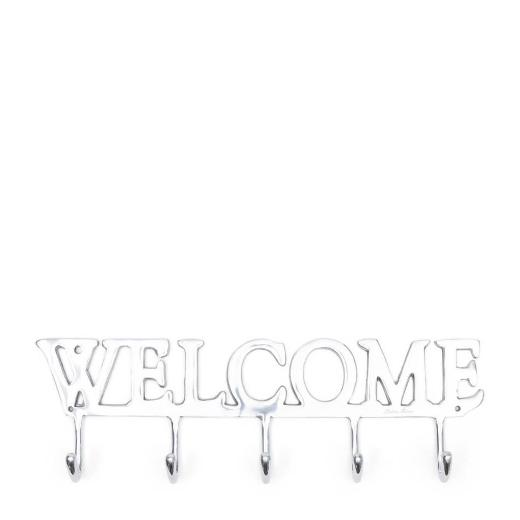 Riviera Maison kapstok Welcome, Zilver