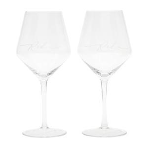 rode wijnglas (set van 2)