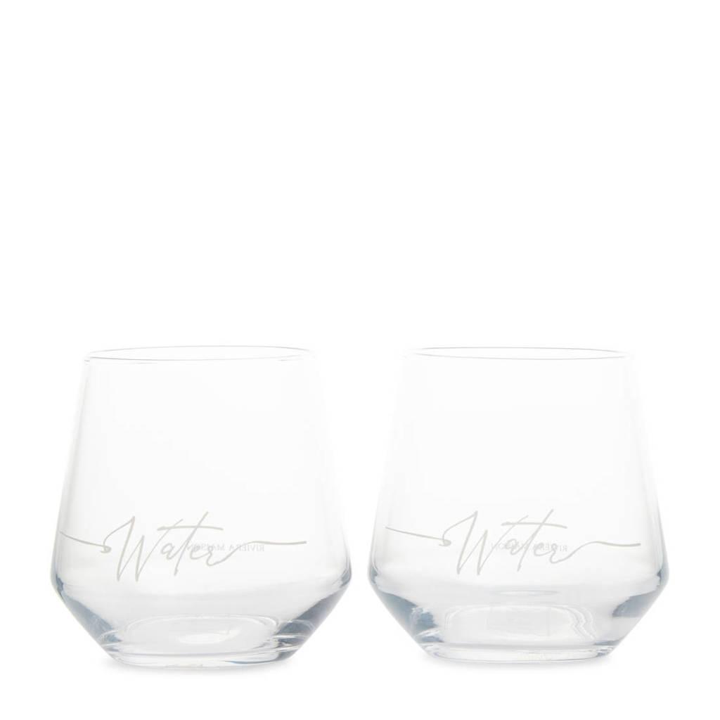 Riviera Maison waterglas (set van 2), Transparant