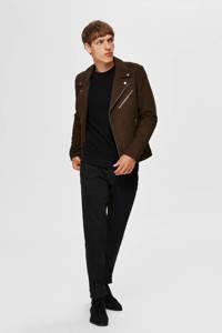 SELECTED HOMME trui met textuur zwart, Zwart