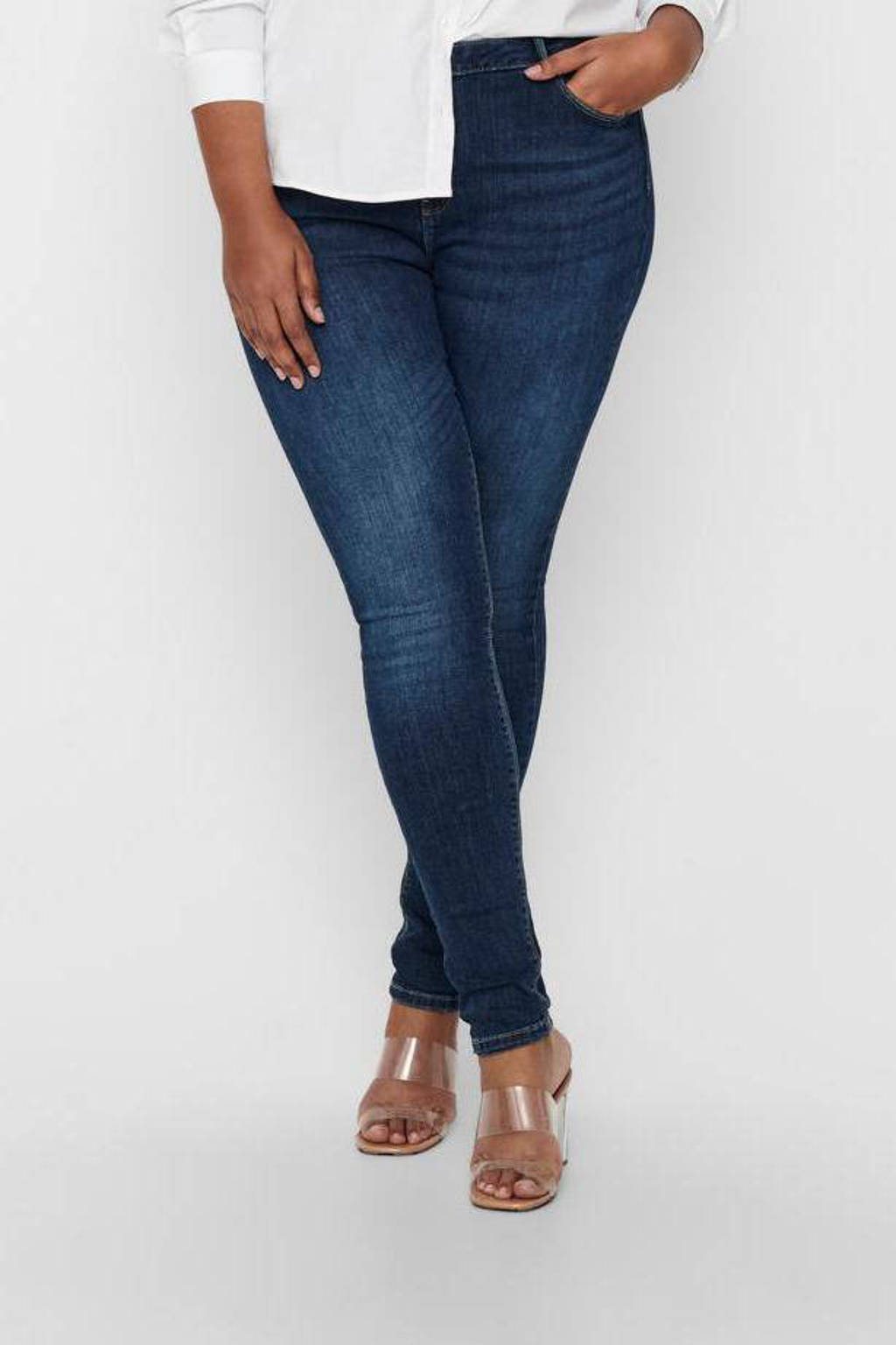 ONLY CARMAKOMA skinny jeans blauw, Blauw