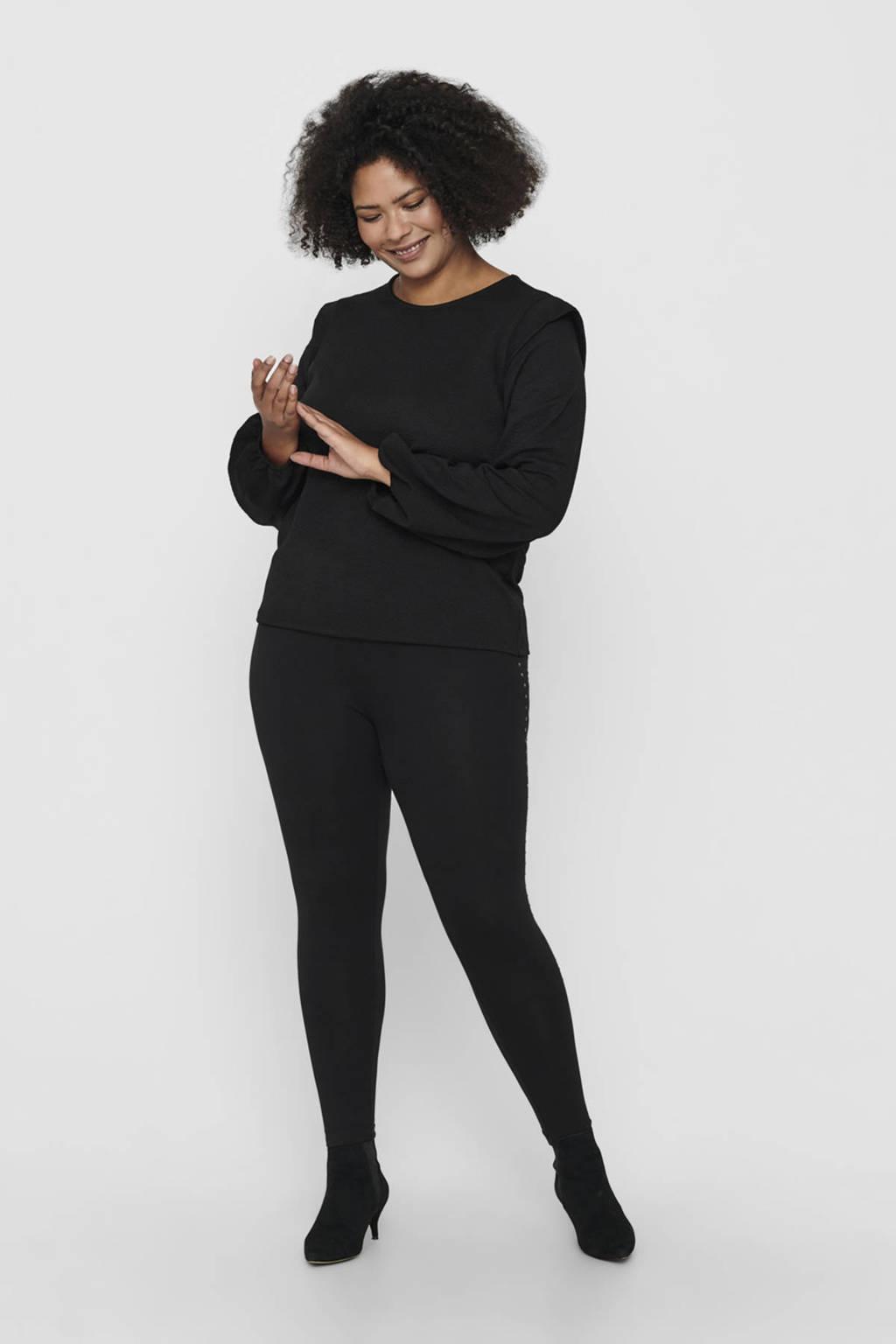 ONLY CARMAKOMA blouse CARSARA zwart, Zwart