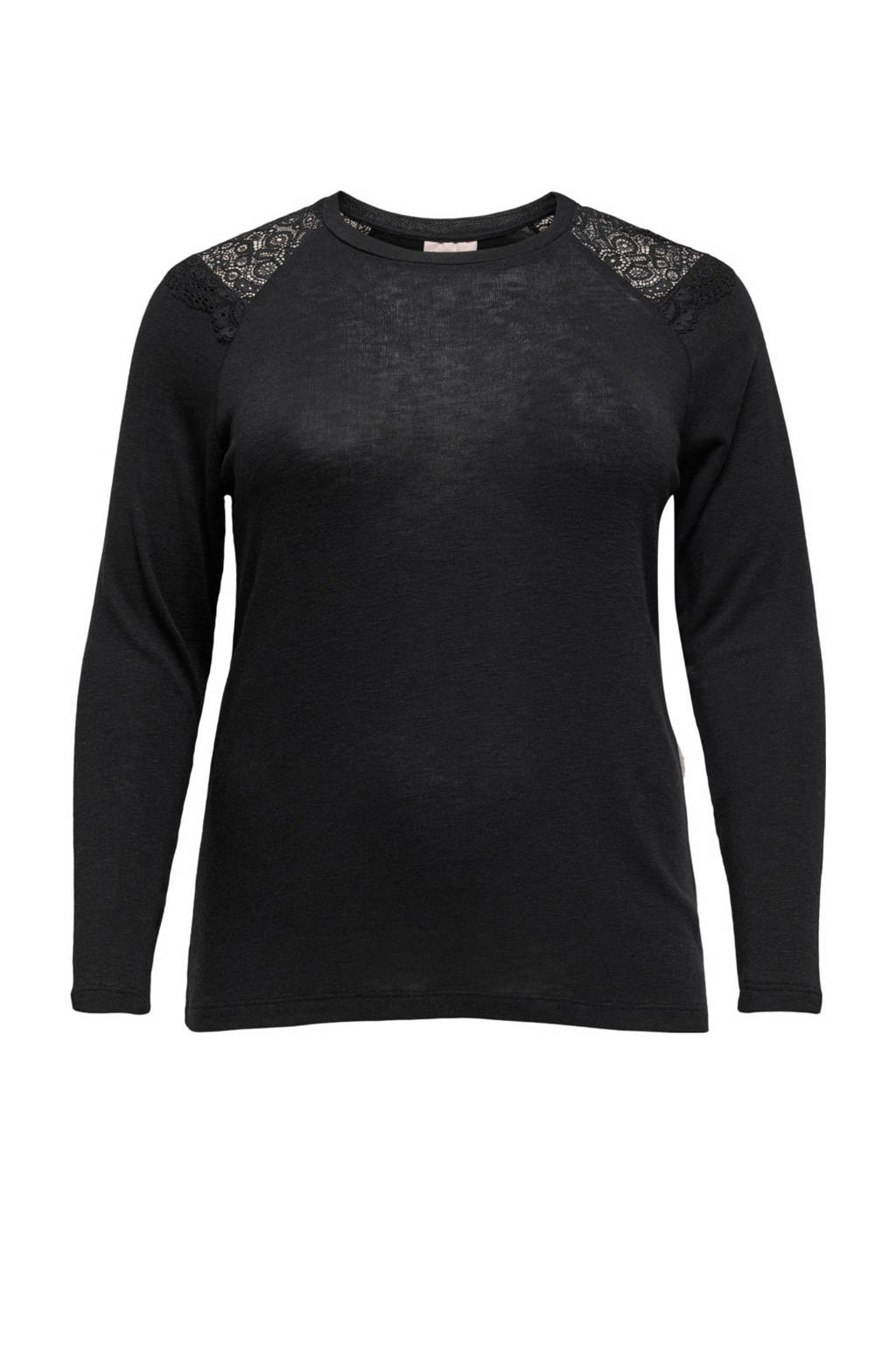 ONLY CARMAKOMA top CARHANNA met open detail antraciet, Antraciet