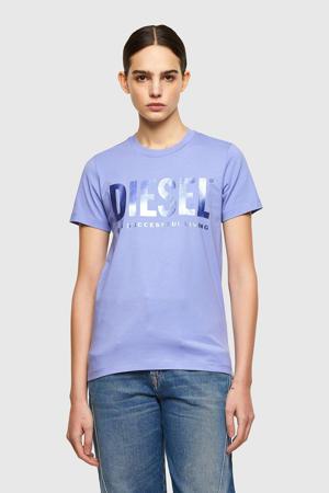 T-shirt T-SILY-WX met logo zwart