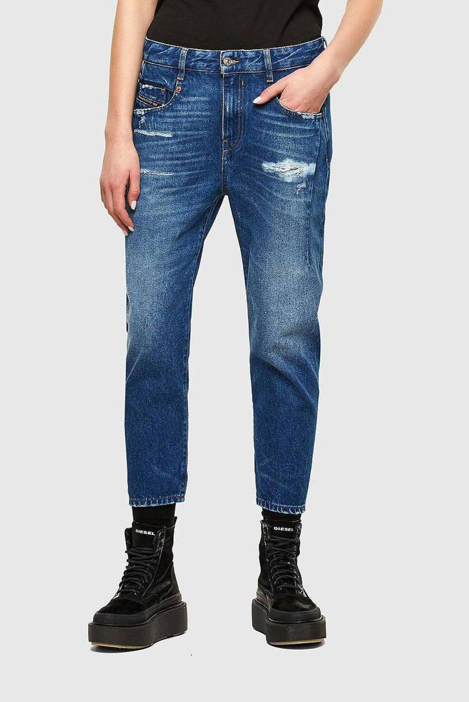 Diesel high waist boyfriend jeans D-Fayza 01 mid blauw, 01 Mid Blauw