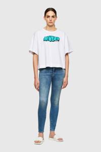 Diesel high waist skinny jeans D-Slandy-High 01 licht blauw