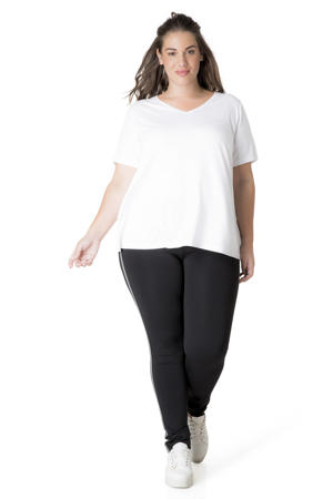 basic T-shirt Alba wit