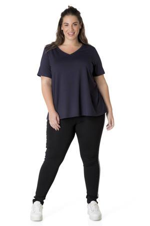 basic T-shirt Alba donkerblauw