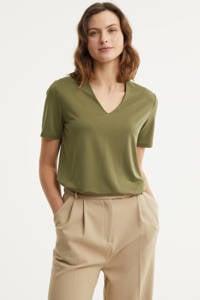 FREEQUENT T-shirt olijfgroen, Olijfgroen