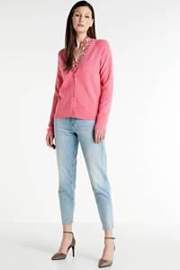 FREEQUENT fijngebreid vest roze, Roze