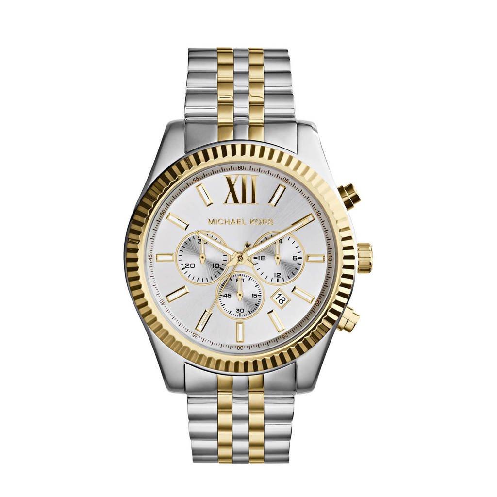 Michael Kors horloge MK8344 Lexington zilver, Goud/zilverkleurig