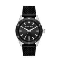 Michael Kors horloge MK8819 Layton zilver, Zwart