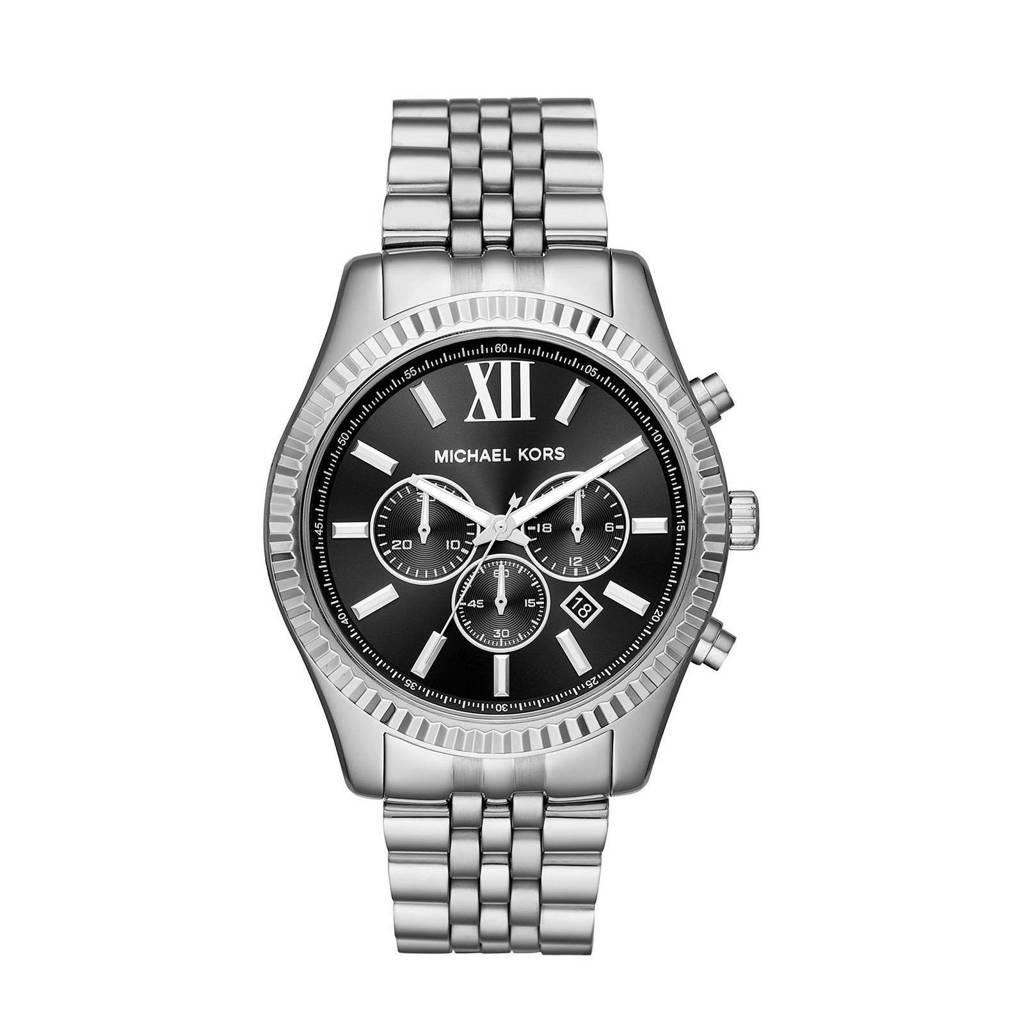 Michael Kors horloge MK8602 Lexington zilver, Zilverkleurig