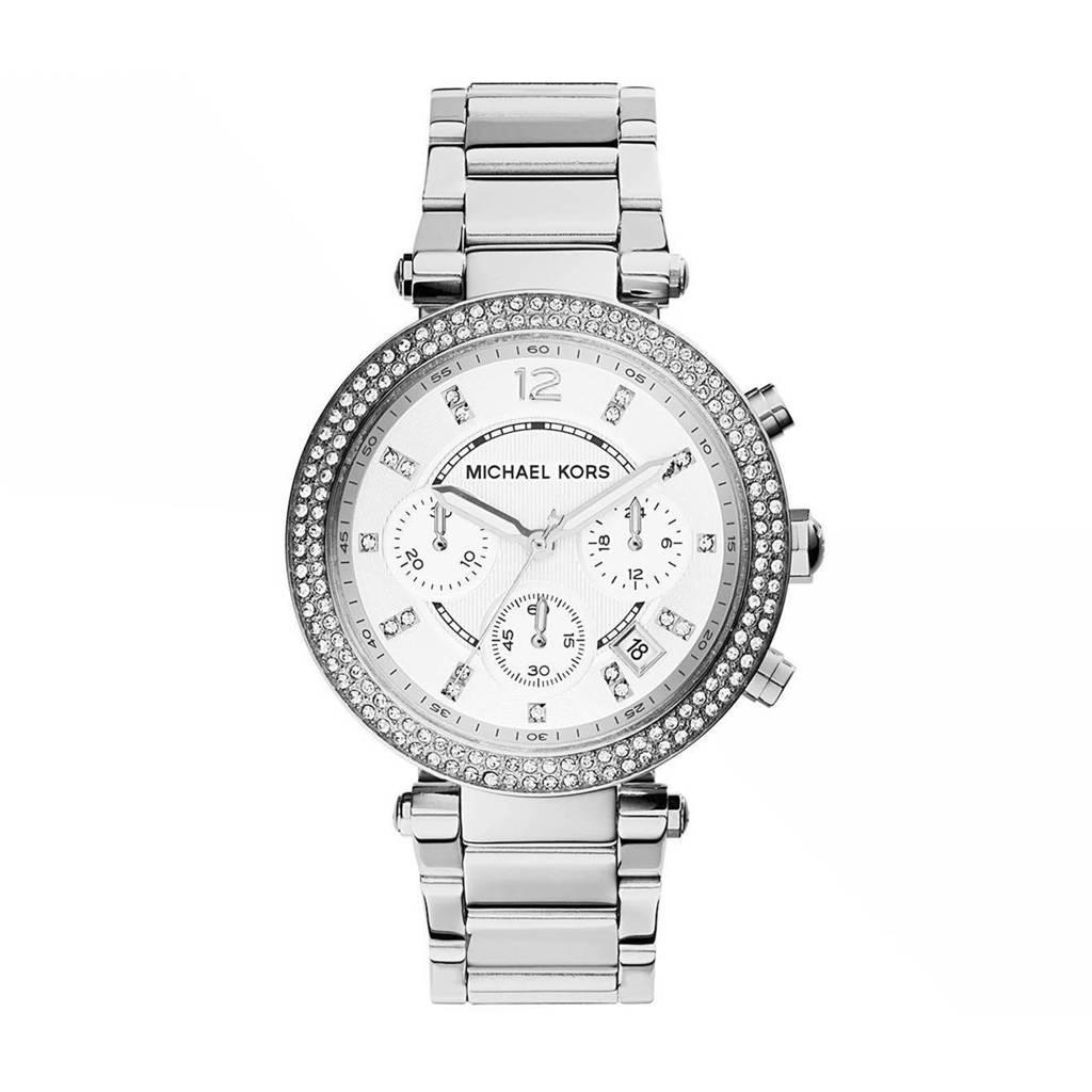 Michael Kors horloge MK5353 Parker zilver, Zilverkleurig