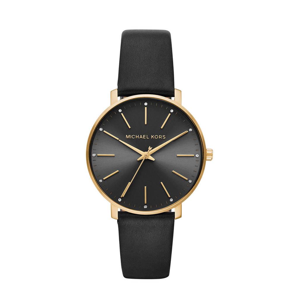 Michael Kors horloge MK2747 Pyper goud, zwart/goudkleurig